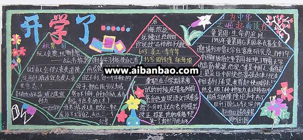 《为中华的崛起而读书》黑板报